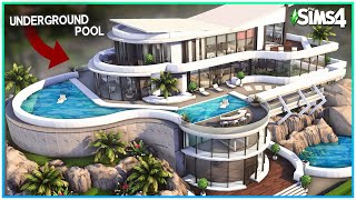 Sims 4 Rich Round Mansion w/ SECRET underground pool - Sims 4 Speed Build | Kate Emerald