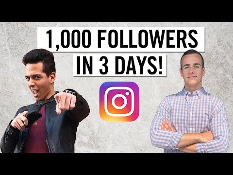 How To Get 1,000 Instagram Followers In 3 Days! (Step By Step)