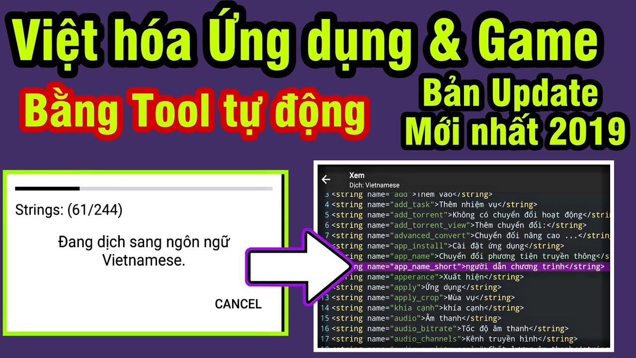 [MỚI] Hướng dẫn Việt Hóa Ứng dụng & Game Android bằng Tool tự động 2019 bản mới nhất -MOD ANDROID #2