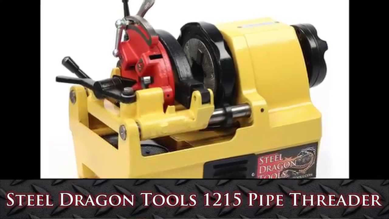 SDT 1215 1/4 - 1-1/2  Pipe Threading Machine with 811A Die Head fits RIDGID® - Steel Dragon Tools - YouTube & SDT 1215 1/4 - 1-1/2