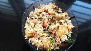 # ALOO METHI RICE # #QUICK LUNCH BOX RECIPE #