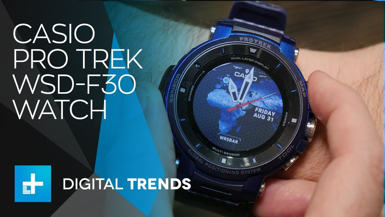 1b5b05b89816 Casio Pro Trek WSD F30 Watch - Hands on at IFA 2018 - YouTube