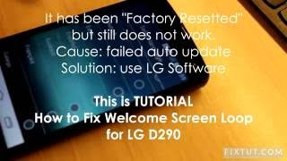 LG D290 and D295 Stuck Start Welcome Screen