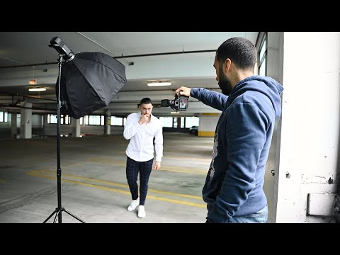 Male model urban Photoshoot + 5 posing tips