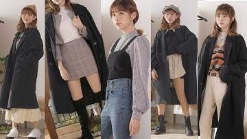 블랙 코트 하나로 겨울코디 다양하게 돌려입기🧥Various Winter Fashion with one Black Coat
