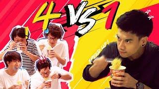 แข่งกินกับพีช 4 รุม 1 !!! by Nissin