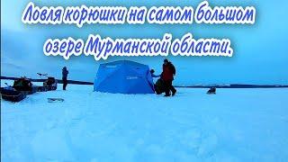 Имандра На мотобуксировщике за корюшкой Гигантская палатка Higashi Yurta Pro