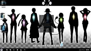 Windows 7 Theme: Ao no Exorcist Black (Full Glass)