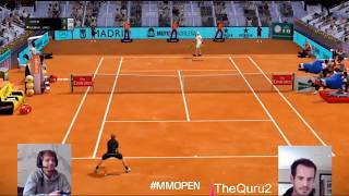 #ps4 #athome #tennisepic and funny finalmurray conquered madrid open virtualexcellent ideasee full match so much funsubscribe