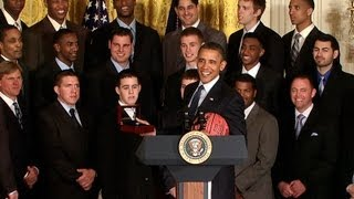 President Obama Welcomes the Kentucky Wildcats