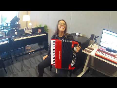 NAMM 2018   Roland FR 4x V Accordion Jam with Alicia Baker