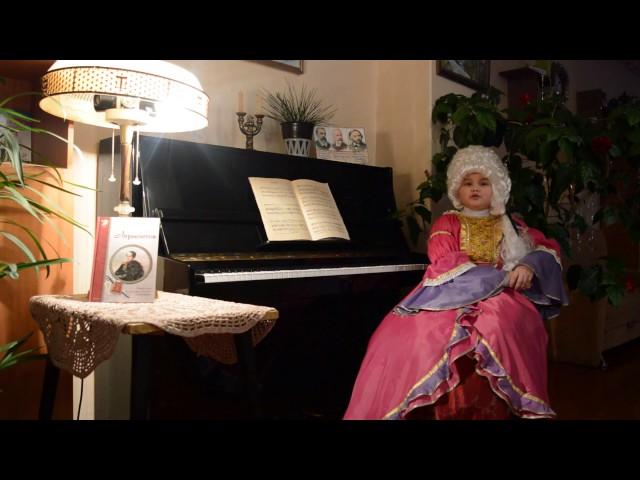Изображение предпросмотра прочтения – ТрофимоваАлександра читает отрывок изпроизведения «Бородино» М.Ю.Лермонтова