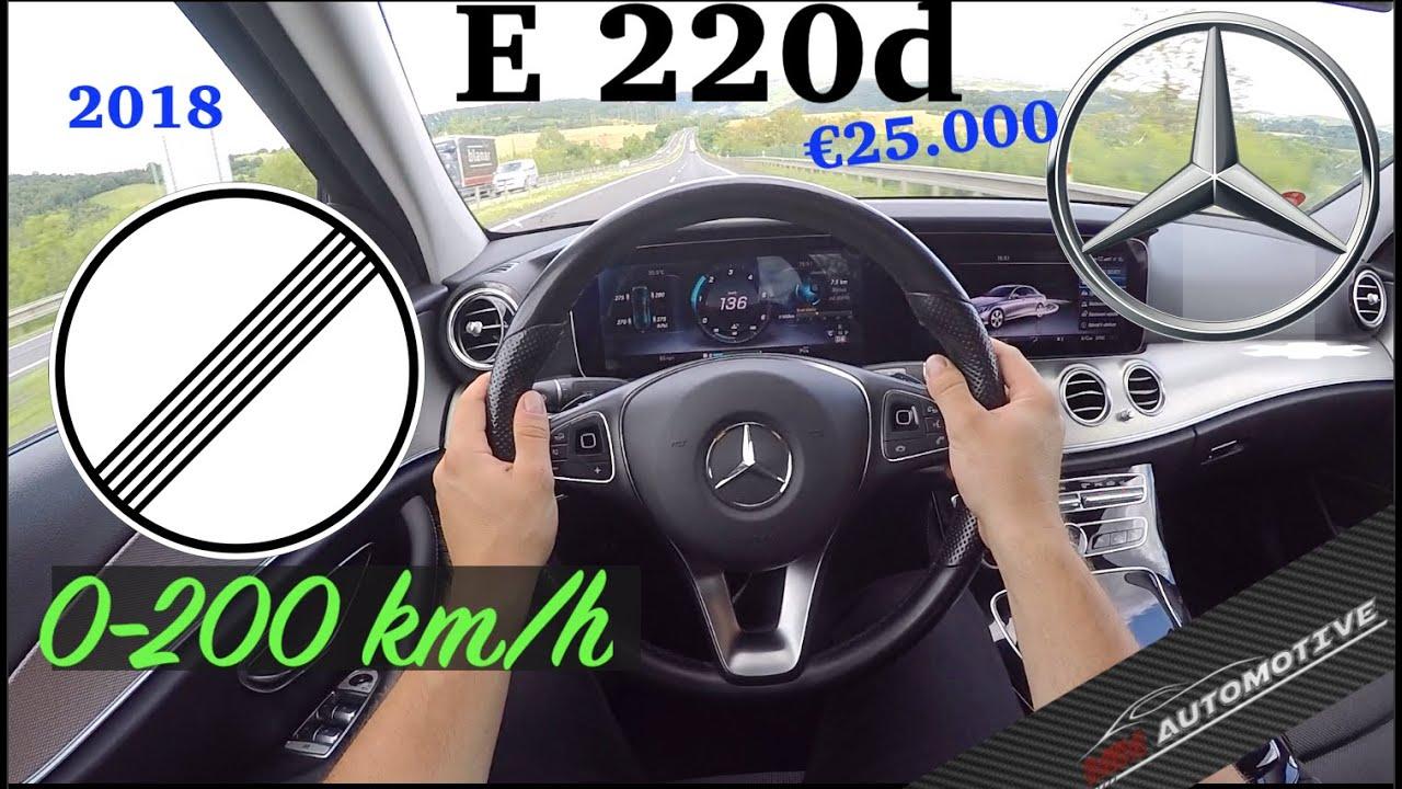 2018 | Mercedes E220d 4Matic | POV Test Drive + Acceleration 0 - 200 km/h