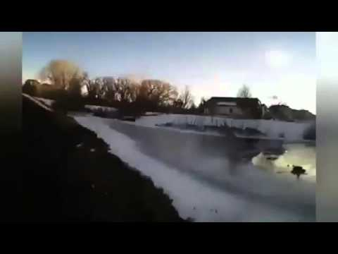 Denver officer rescues teen from icy pond