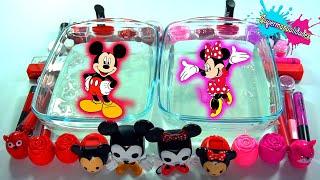 Mezclando Slime Mickey VS Minnie (rojo vs rosa)- Supermanualidades