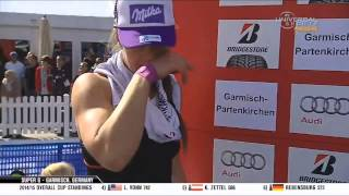 Lindsey Vonn Wins - Super G - Garmisch