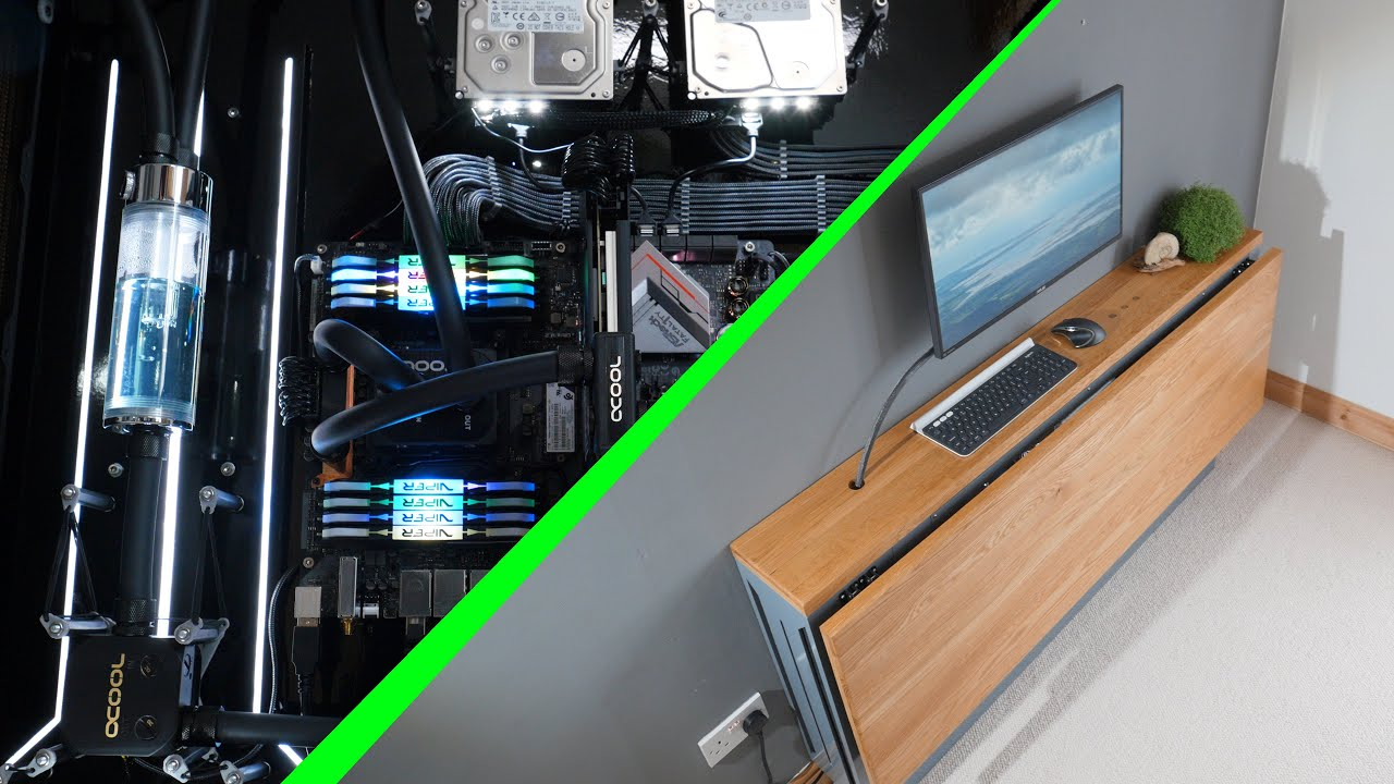 Building A Spectacular Diy Desk Pc It Can Fold Youtube