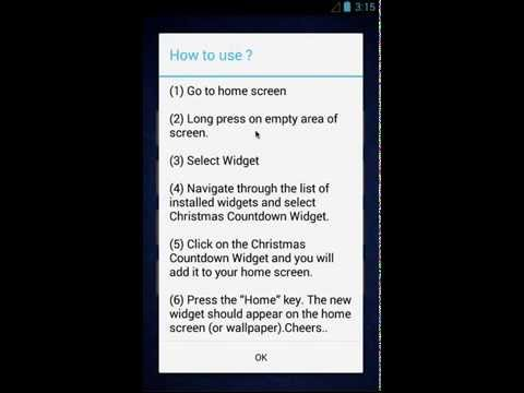 Christmas Countdown 2015 Widget Android App Free Forever! Download Now