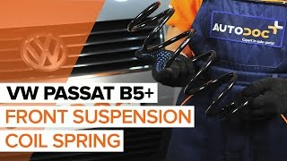 How to replace Suspension springs on VW PASSAT Variant (3B5) - video tutorial
