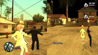 Simulación de pantalla dividida usando pantallas en vivo - Modo 2 Jugadores GTA San Andreas