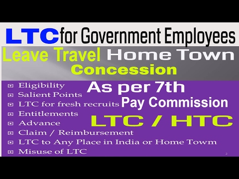 LTC_Leave Travel Concession For Central Government Employees_7th Pay Commission News || Hindi ||