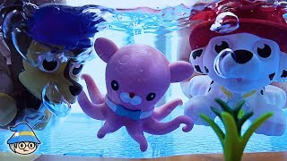 Paw Patrol rescue Octonauts in the water. Adventures toy story in the water.