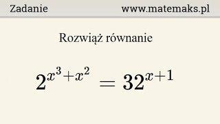 Równanie wykładnicze - przykład 7