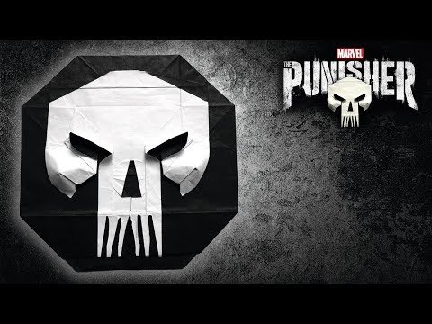 Origami The Punisher tutorial (Mi Wu) Death Coin 折り紙 パニッシャー  skull netflix marvel comic