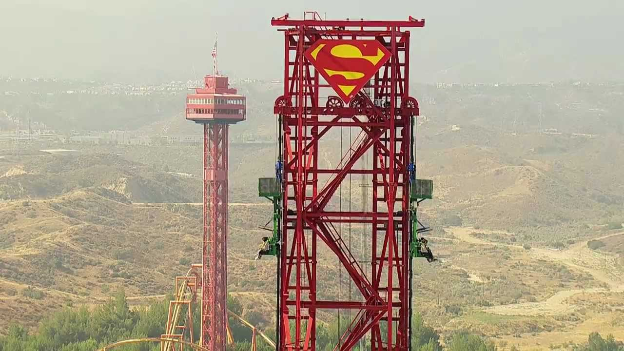 Lex Luthor's Drop of Doom - Six Flags Magic Mountain - YouTube