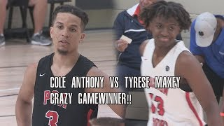 CRAZIEST GAME WINNER This Year!! Cole Anthony vs Tyrese Maxey At Peach Jam!