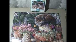 1000 Piece Wood Jigsaw Puzzle Pansy Sleeping Used # 97271 Upc 072348972714