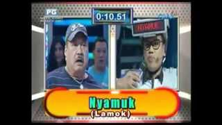 Uya Kuya and Jimmy Santos in Eat Bulaga Pinoy Henyo International Edition