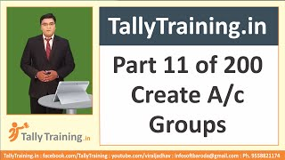 Module 3 | Session 2 | How to Create Group in Tally ERP 9 | Free Online Tally Training