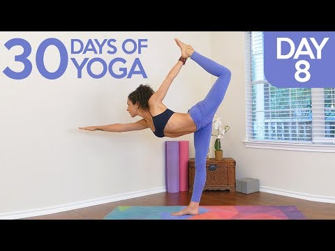 Improve Mental Focus & Reduce Stress ♥ Yoga with Jess, Day 8 of 30, Relaxing Beginners Class