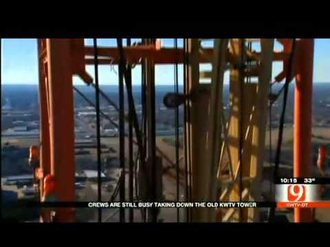 KWTV Brings Down Historic Broadcast Tower