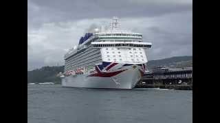 """El crucero """" Britannia """" visita el puerto de Vigo y partio hacia Lisboa"""