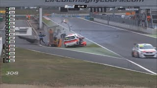Peugeot 308 Racing Cup 2017. Race 2 Circuit de Nevers Magny-Cours. Huge Crash