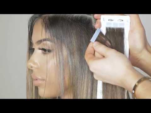 HOW TO APPLY INVISI TAPE EXTENSIONS