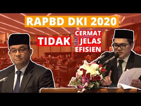 RAPBD DKI 2020 TIDAK BERPIHAK KE RAKYAT!!!