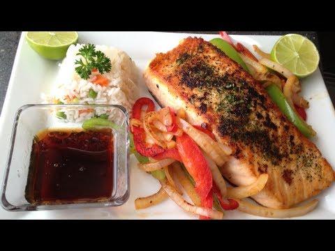 Salmon al sarten youtube for Cocinar kale sarten