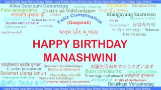 Manashwini   Languages Idiomas - Happy Birthday