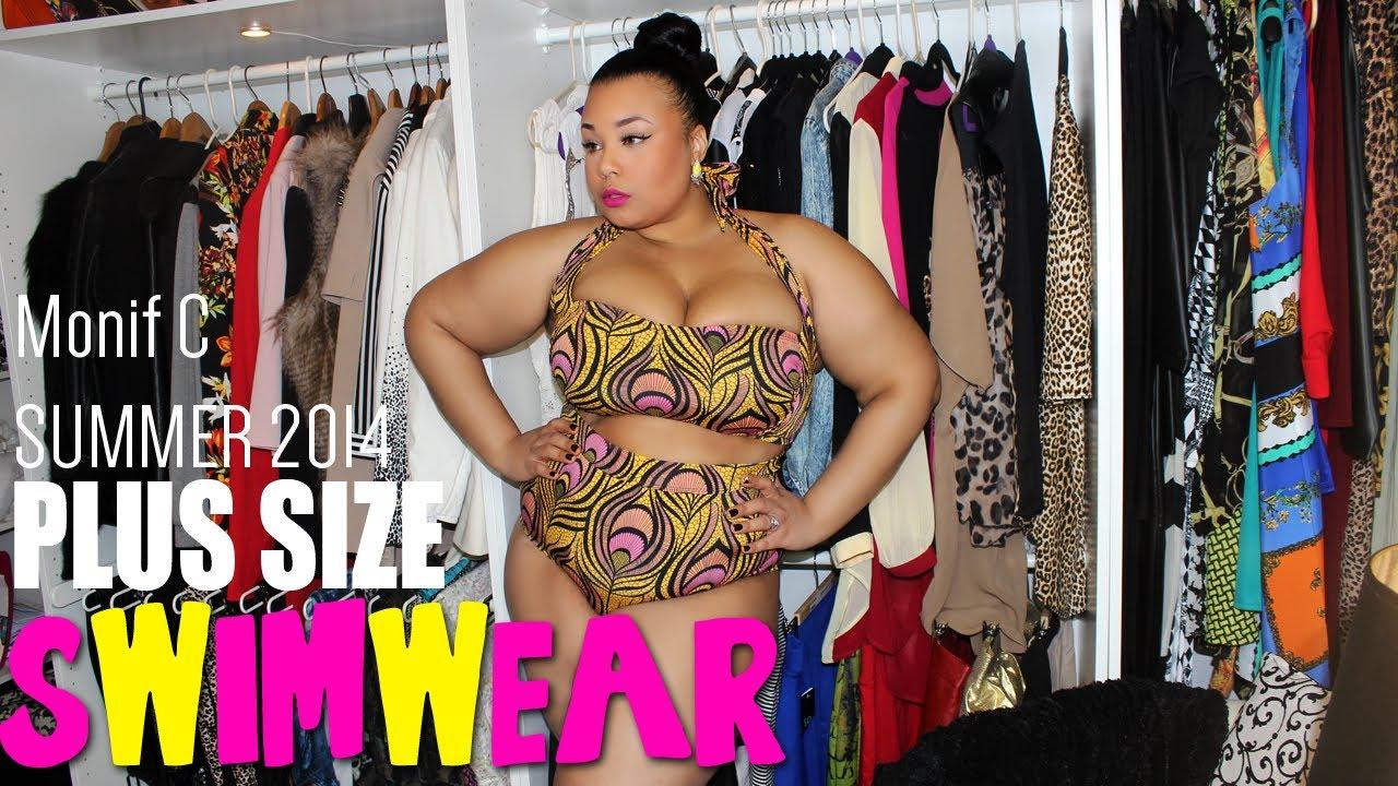 SUMMER 2014 PLUS SIZE SWIMWEAR | MONIF C - YouTube