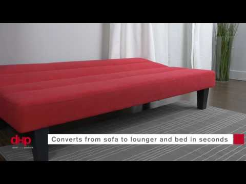 Kebo Futon Sofa Bed Multiple Colors Video