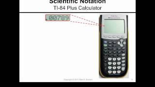 Scientific Notation and the TI-84 Plus Calculator