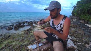 Выживание на необитаемом острове 2 Часть 2 Сезон Делаю острогу ночная подводная охота в океане