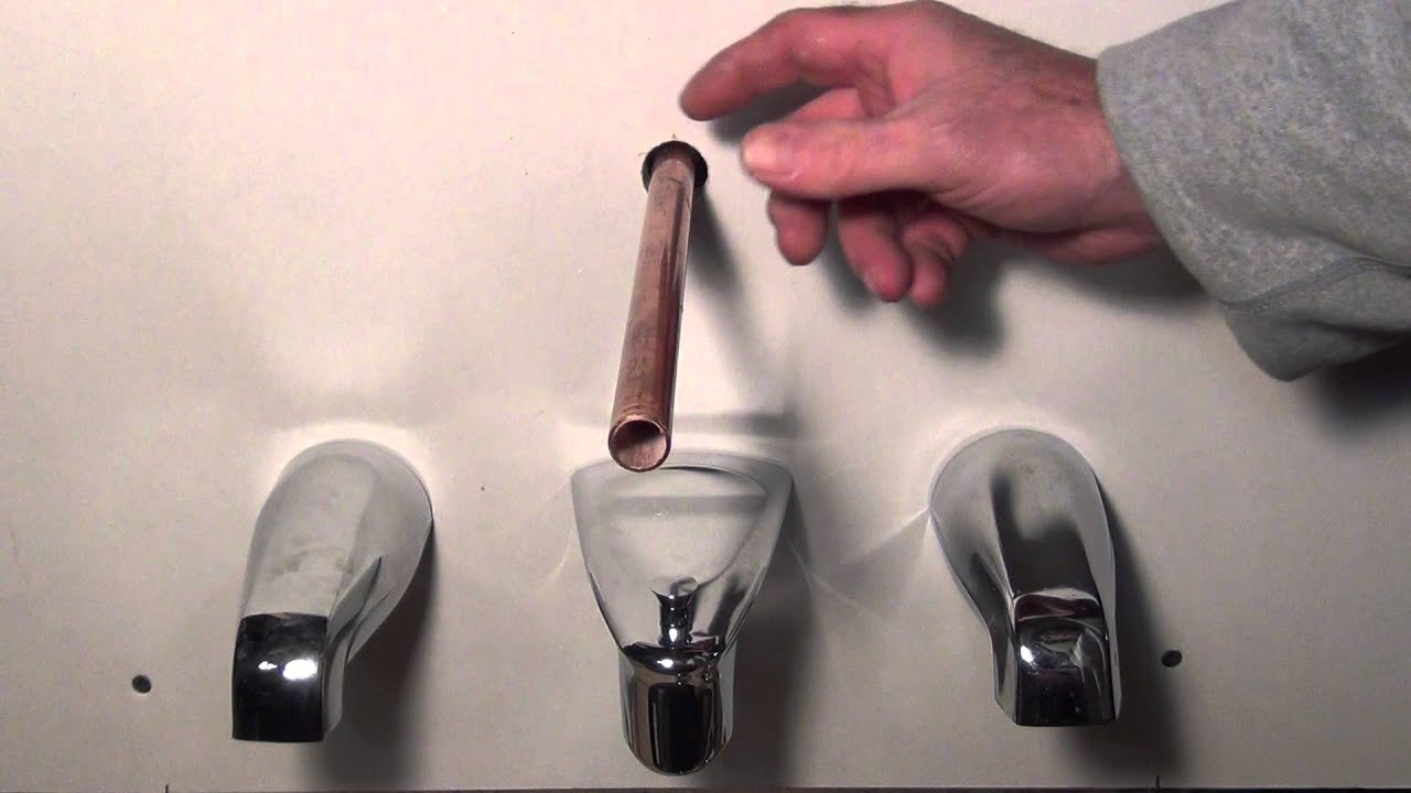 How to remove and replace a tub spout  Different Types  Plumbing Tips     YouTubeHow to remove and replace a tub spout  Different Types  Plumbing  . Fix Bath Faucet Shower. Home Design Ideas