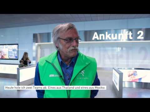 Ankunft der Cybathlon Teams: Flughafen