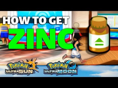 HOW TO GET Zinc in Pokemon Ultra Sun and Moon