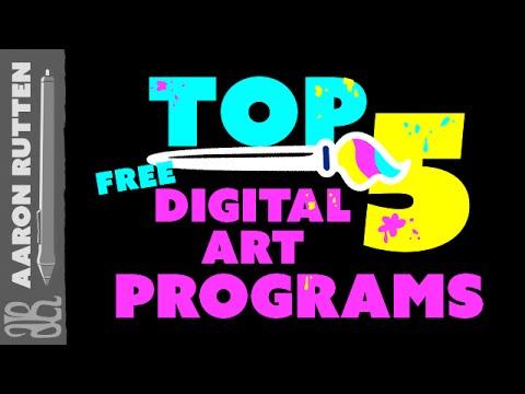 Top 5 FREE Digital Art Programs 🎨