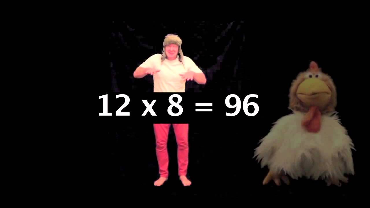 Times tables 8 x table learn times tables songs 1 12 for 12 x table song